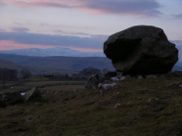 Samson's Toe, a glacial erratic and a landmark visible on the approach to Lower Winskill.